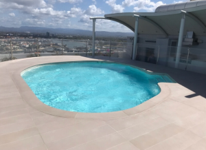 Tiling to pool area