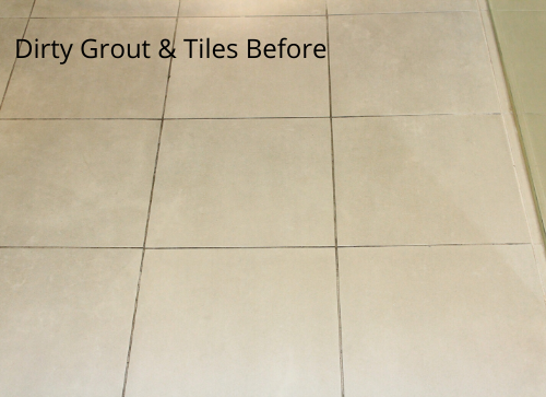 Dirty Grout  Tiles Before