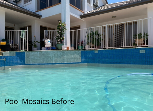 Pool Mosaics Before