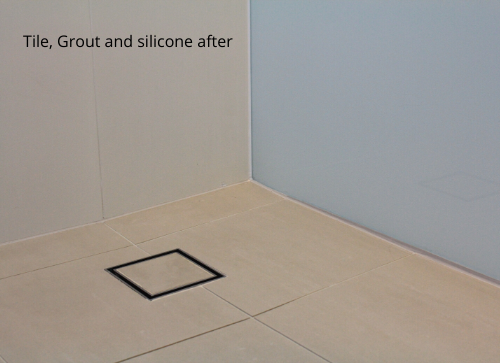Tile, Grout and silicone after
