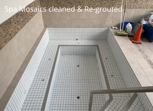 Spa Mosaic tiles re-grouted