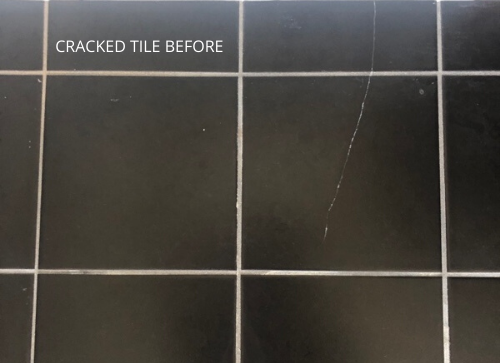 Chipped shower tile repair